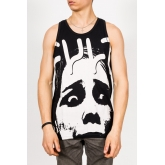 Koszulka Cult Tank Face Logo Black / White